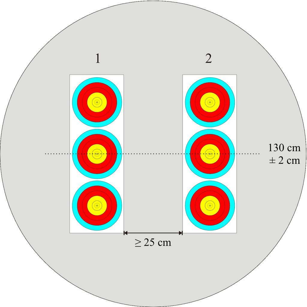 Image 15: 2 x 3 Vertical Triple Target Face for Indoor 1 x 3 horizontális hármas lőlap