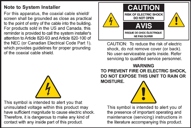 Notice to Installers The servicing instructions in this notice are for use by qualified service