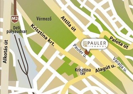 LOCATION / ELHELYEZKEDÉS Pauler Office Building is located in a quiet street in Central Buda, near the Vérmező (Southern railway station), the Buda Castle and the tunnel running below the Castle.