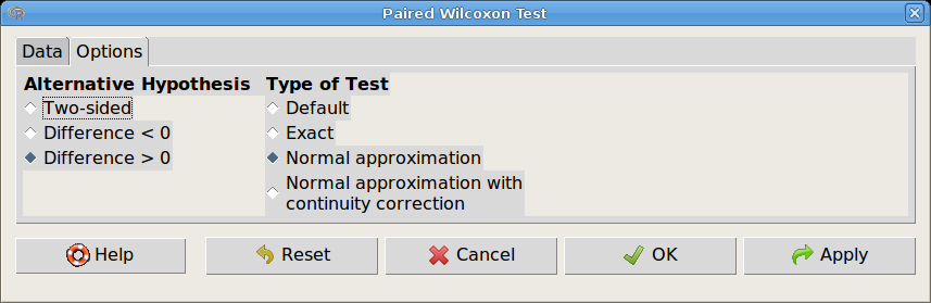 57. ábra. Páros Wilcoxon próba: Statistics Nonparametric tests Paired-samples Wilcoxon test.
