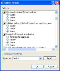 controls Enable or Prompt (recommend). B.