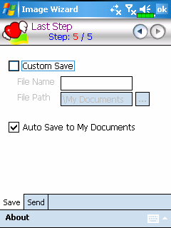 ❶ ❷ ❸ ❹ ❶Return to the previous step. ❷Input a name for the file and select the file saving path.