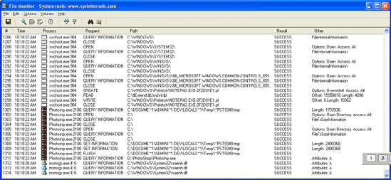 134 Diagnosztika FileMon 7.04 Microsoft http://www.microsoft.com/technet/sysinternals/f ileanddisk/filemon.