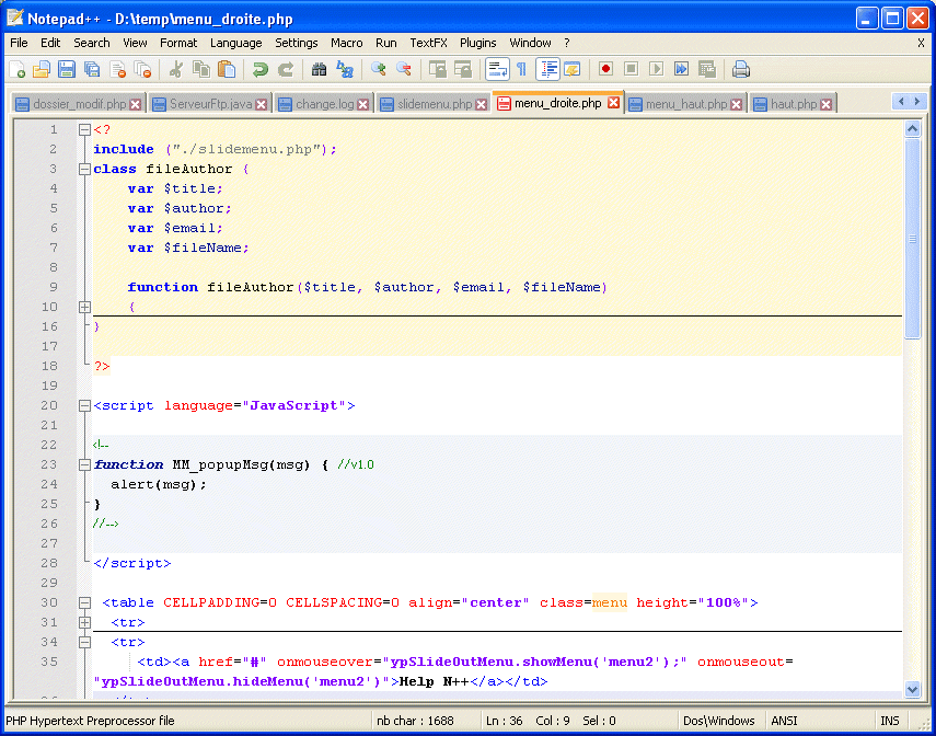 90 Text editorok Notepad++ 4.1 Szabad szoftver Notepad++ http://notepad-plus.sourceforge.net/hu/site.