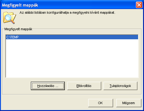 Jogosultságok Mivel a mappafigyelő szolgáltatás a beállításait a Windows Registry-ben tárolja (HKEY_LOCAL_MACHINE/Software/Cobra