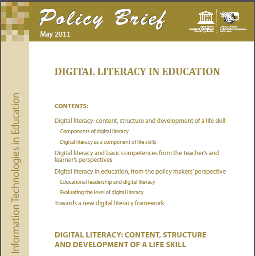 Paris:UNESCO Basic elements of digital literacy an overview from the
