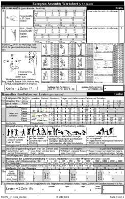 ergonomic assessment template - eaws ergonomic assessment worksheet az eaws alkalmaz s