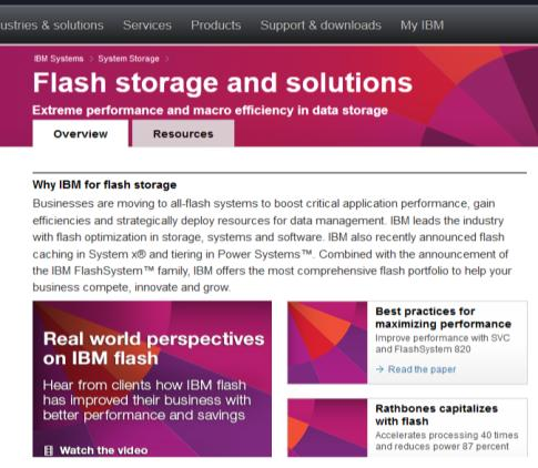 További információk Website: ibm.com/storage/flash/ Product Page: IBM FlashSystem 840 Resources: ibm.