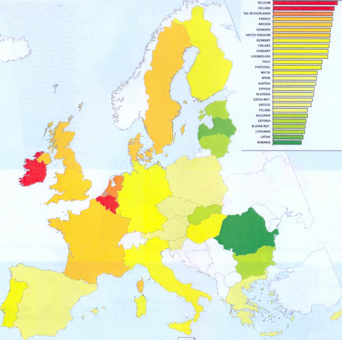 Breast cancer incidence in the EU Member States
