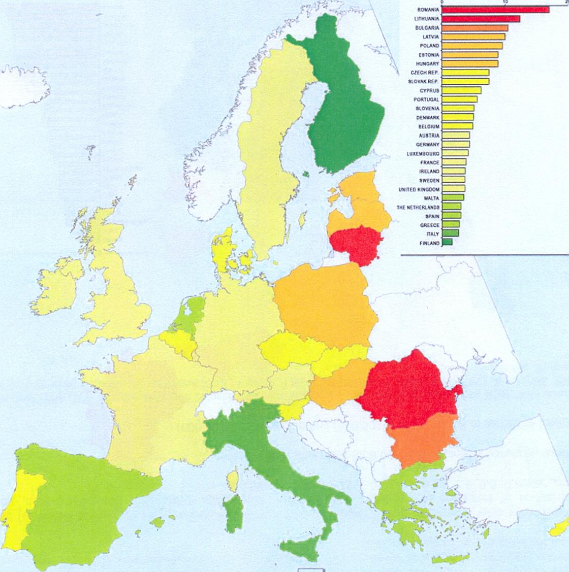 Cervical cancer mortality in the EU Member States