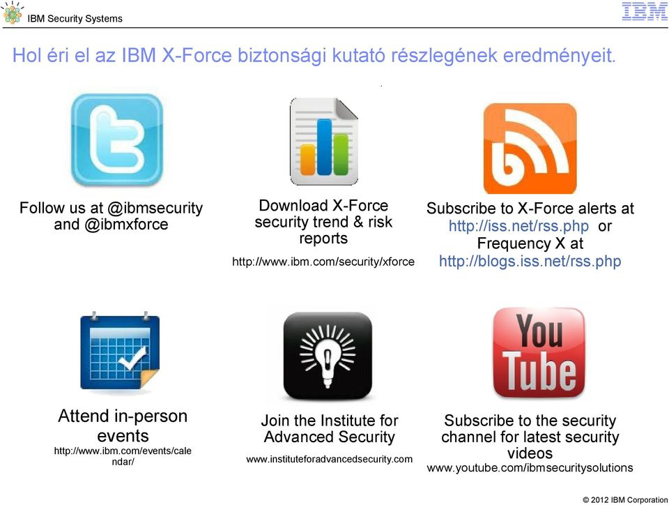 ibm.com/events/cale ndar/ Join the Institute for Advanced Security www.instituteforadvancedsecurity.