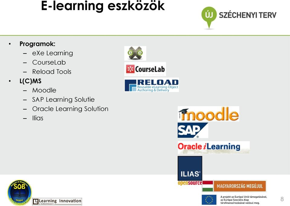 Tools L(C)MS Moodle SAP Learning