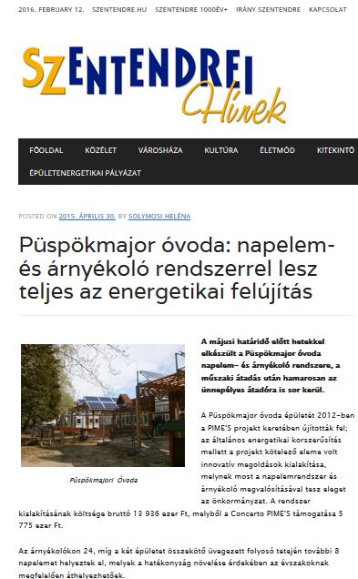 Installation integrated solar cells for shading at Püskpökmajor Kindergarten About the installation integrated solar cells for shading at Püskpökmajor is continuously reported in local news by