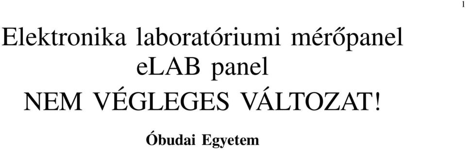 mérőpanel elab panel