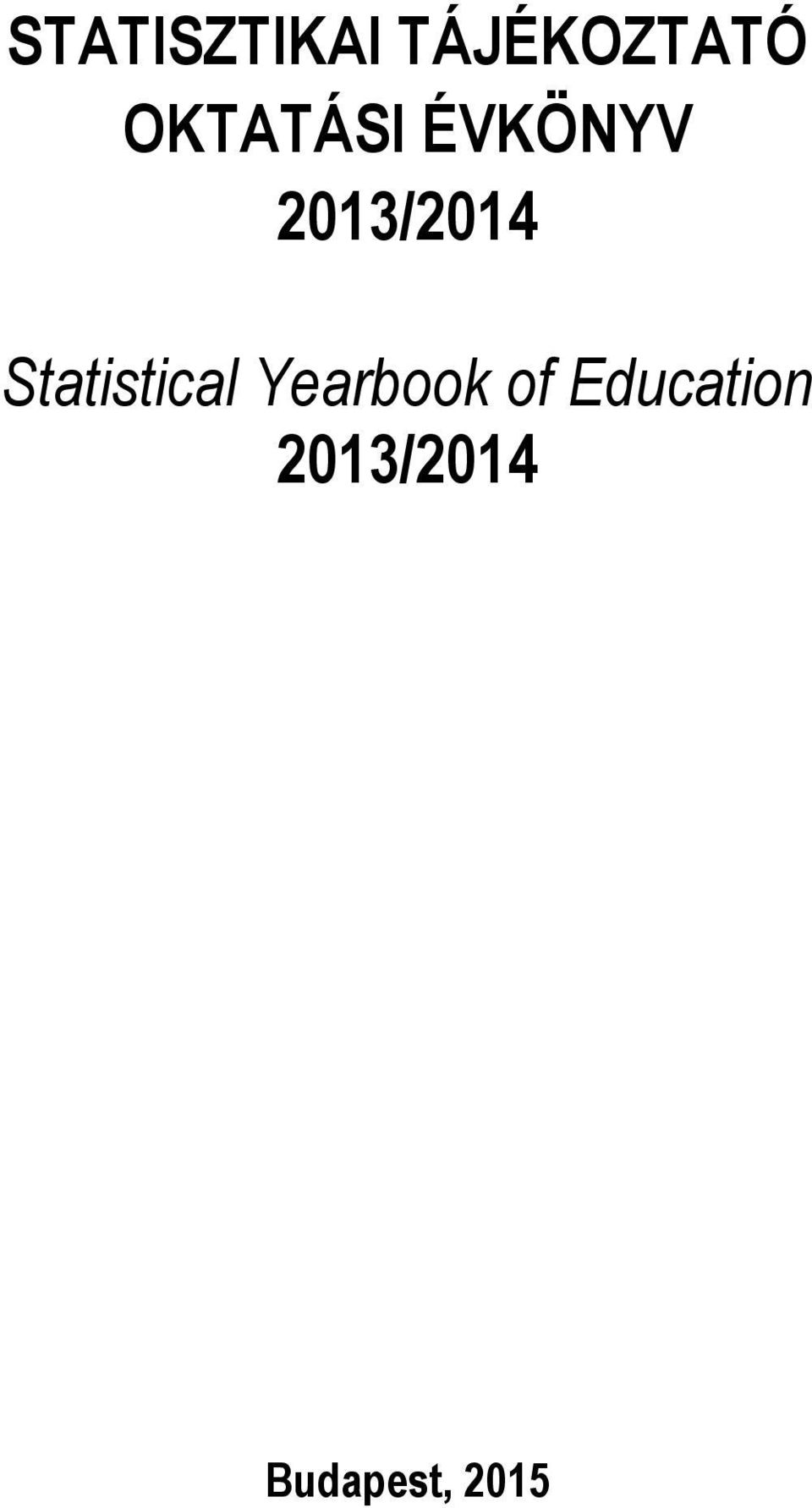 Statistical Yearbook of