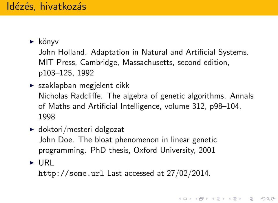 The algebra of genetic algorithms.