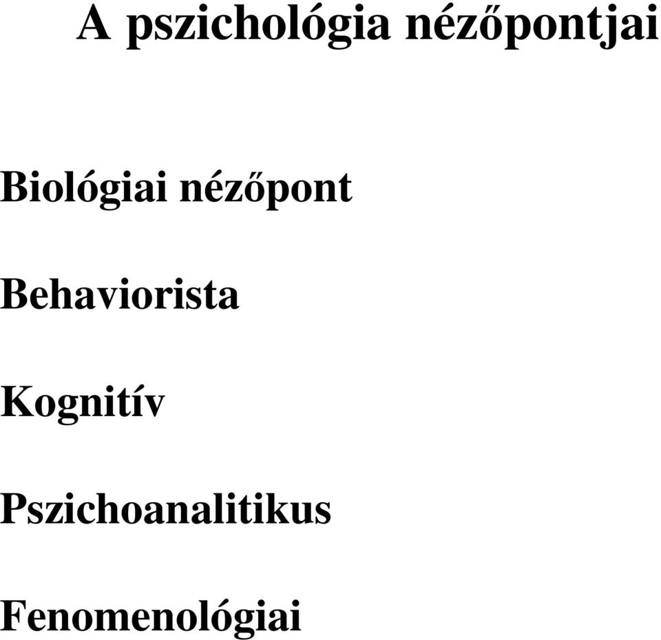 nézőpont Behaviorista