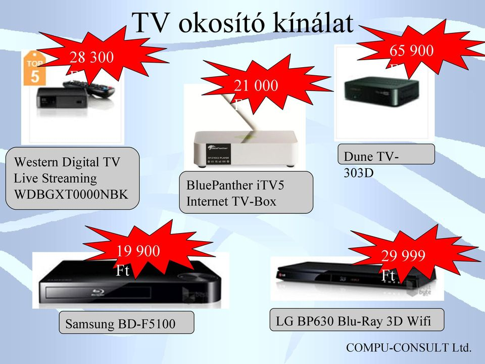 Samsung BD-F5100 BluePanther itv5 Internet TV-Box