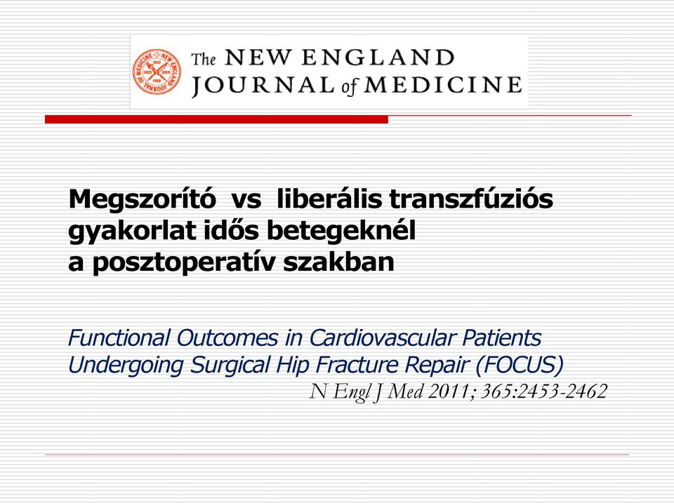 Outcomes in Cardiovascular Patients Undergoing