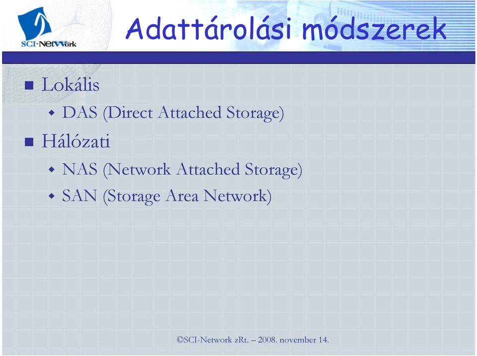 Hálózati NAS (Network Attached
