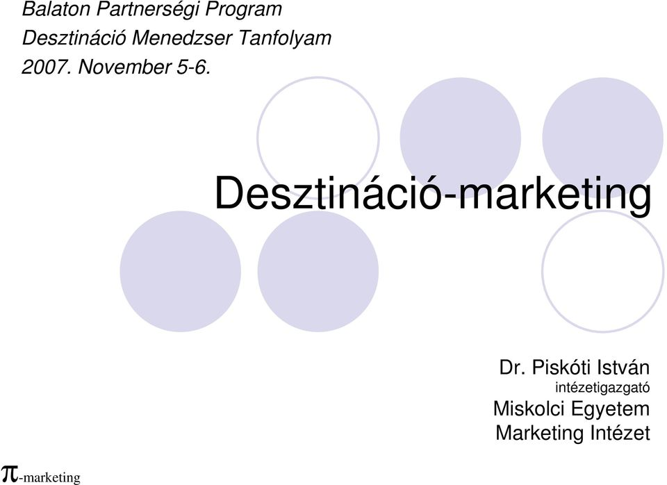 Desztináció-marketing Dr.