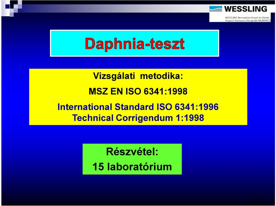ISO 6341:1996 Technical