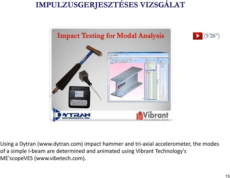 com) impact hammer and tri-axial accelerometer, the modes