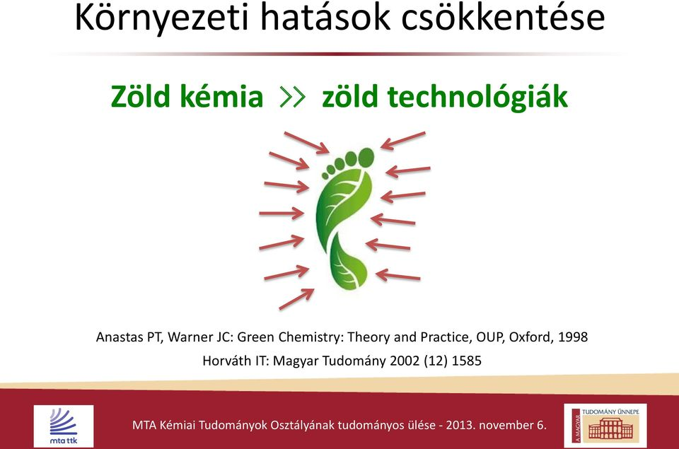 Green Chemistry: Theory and Practice, OUP,