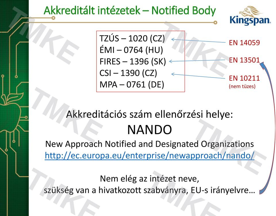 helye: NANDO New Approach Notified and Designated Organizations http://ec.europa.