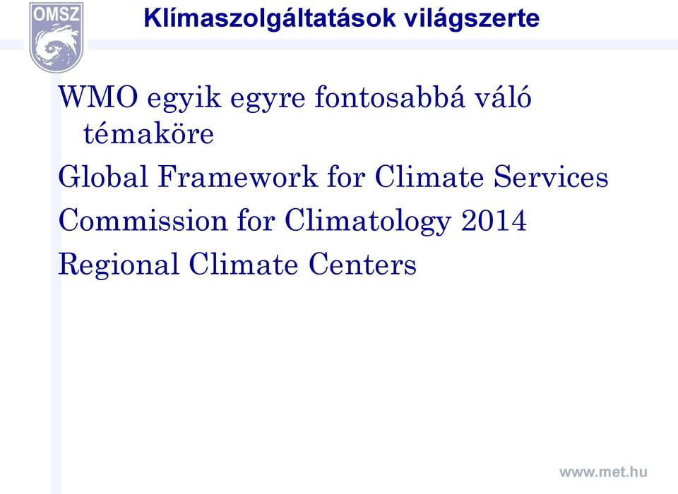 Framework for Climate Services Commission