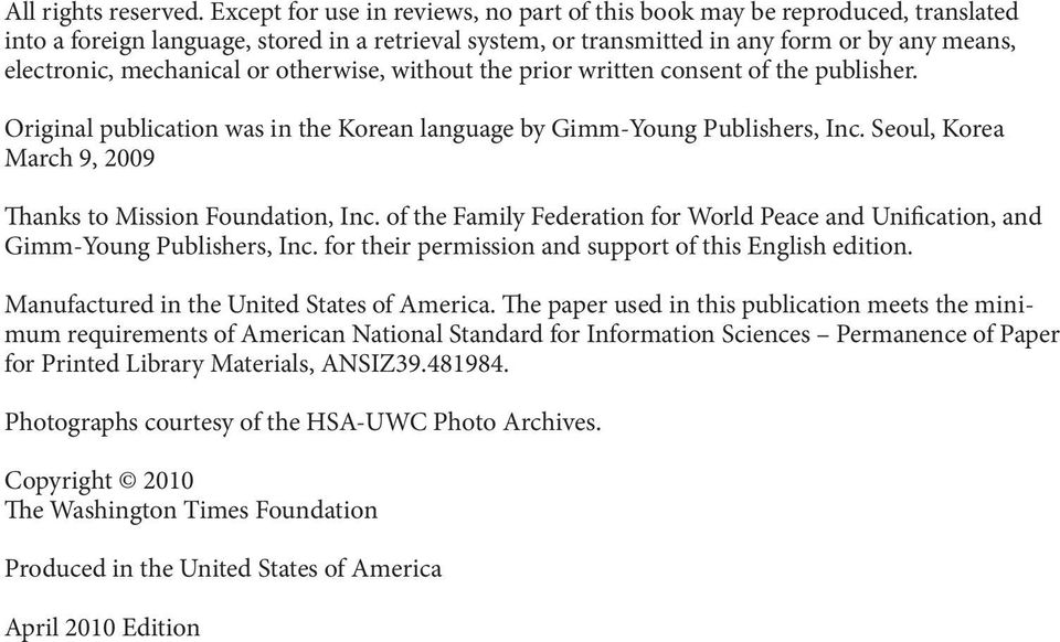 or otherwise, without the prior written consent of the publisher. Original publication was in the Korean language by Gimm-Young Publishers, Inc.