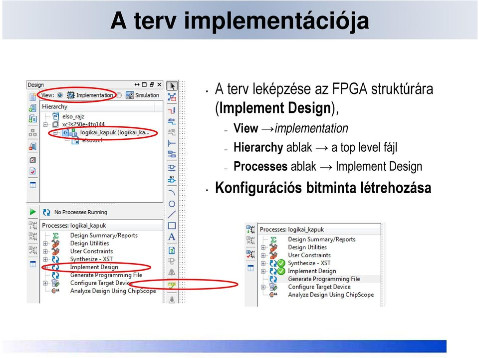 implementationp Hierarchy ablak a top level fájl