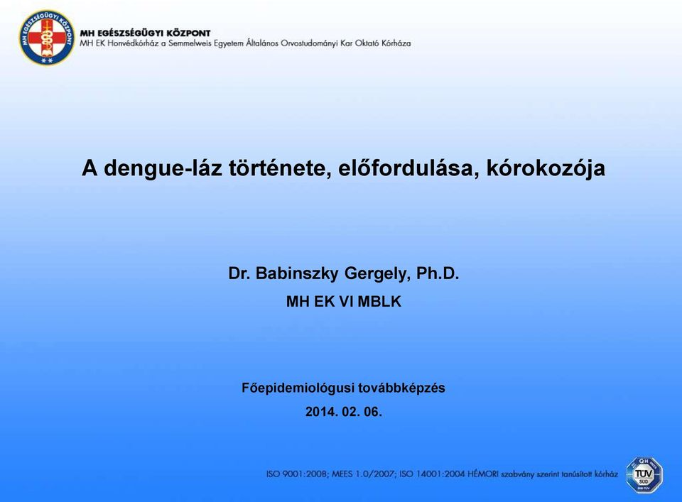 Babinszky Gergely, Ph.D.