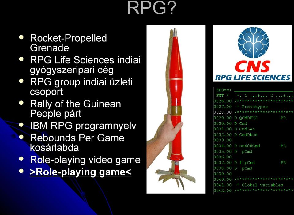 of the Guinean People párt IBM RPG programnyelv Rebounds