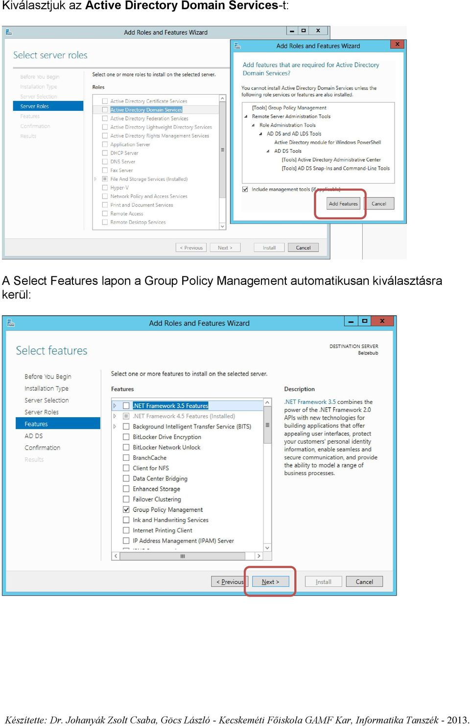 Features lapon a Group Policy