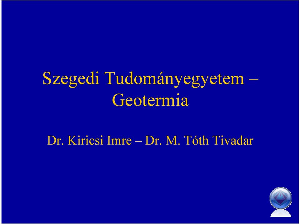 Geotermia Dr.