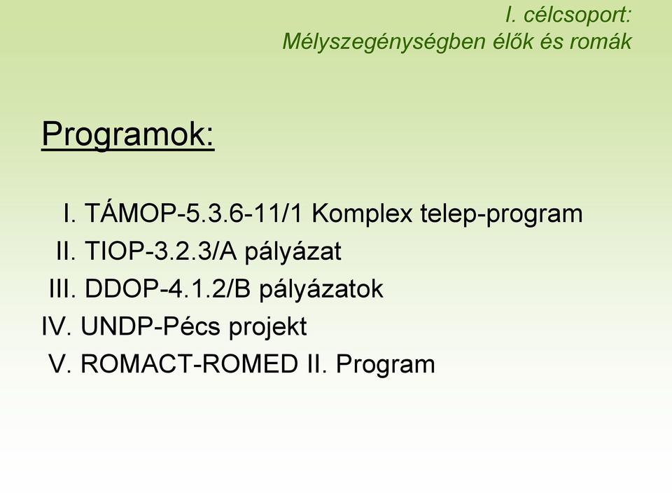 6-11/1 Komplex telep-program II. TIOP-3.2.