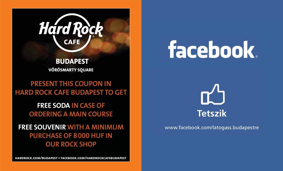 PURCHASE OF 8 000 HUF IN OUR ROCK SHOP Tetszik www.facebook.