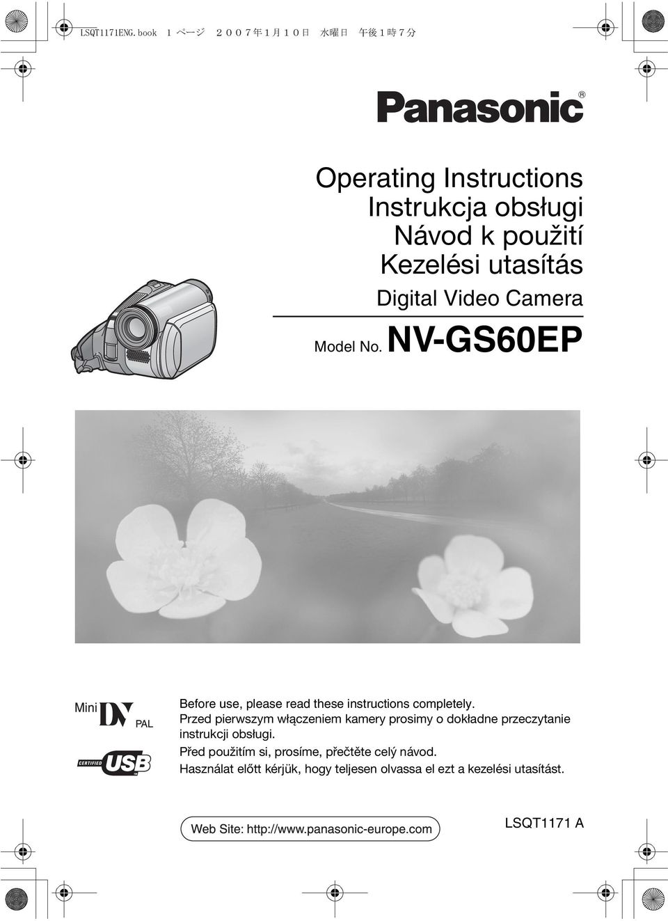 NV-GS60EP Before use, please read these instructions completely.