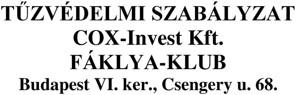 COX-Invest Kft.