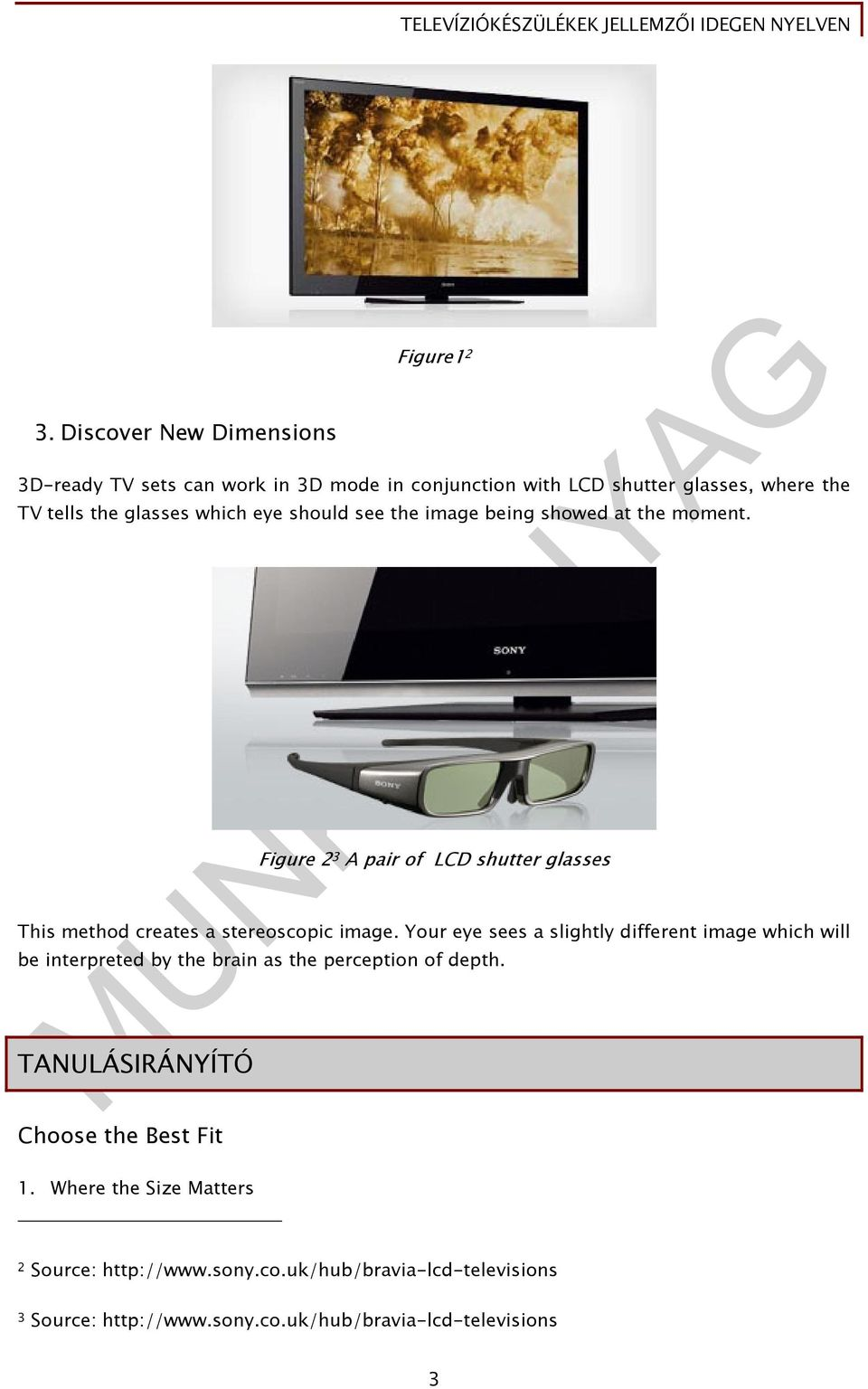 Figure 2 3 A pair of LCD shutter glasses This method creates a stereoscopic image.