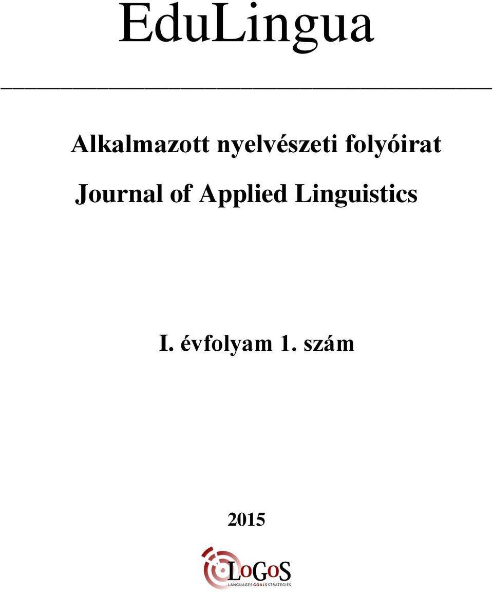 Journal of Applied