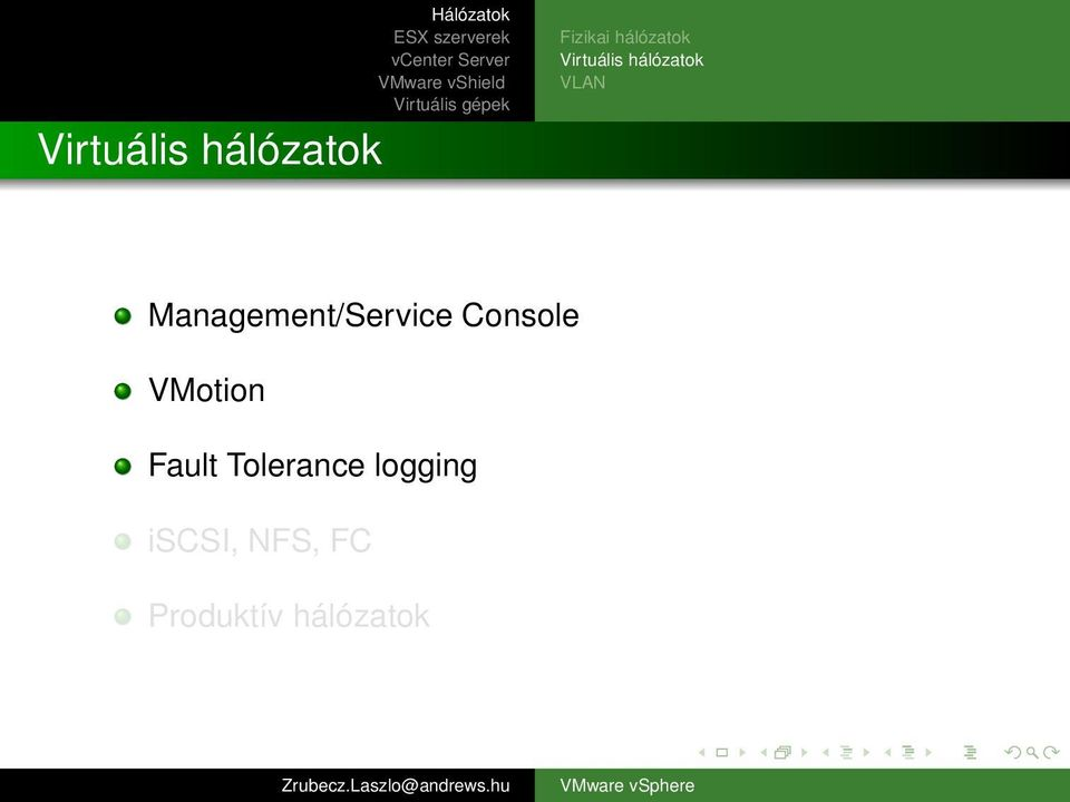 Management/Service Console VMotion