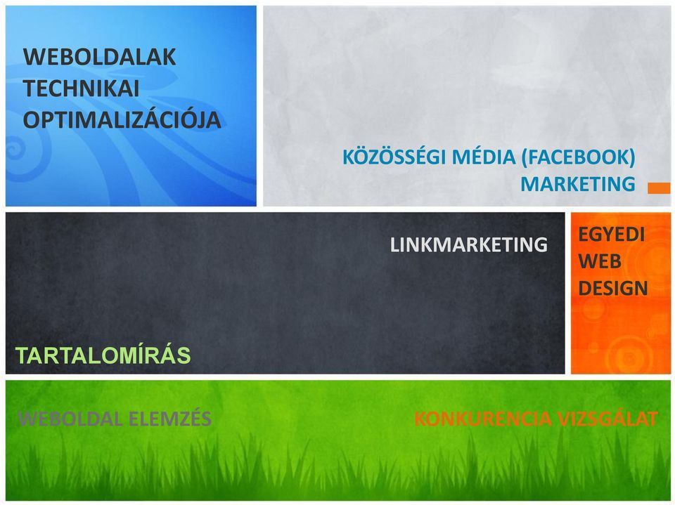 LINKMARKETING EGYEDI WEB DESIGN