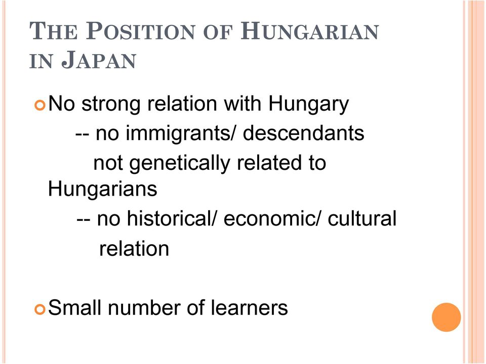not genetically related to Hungarians -- no