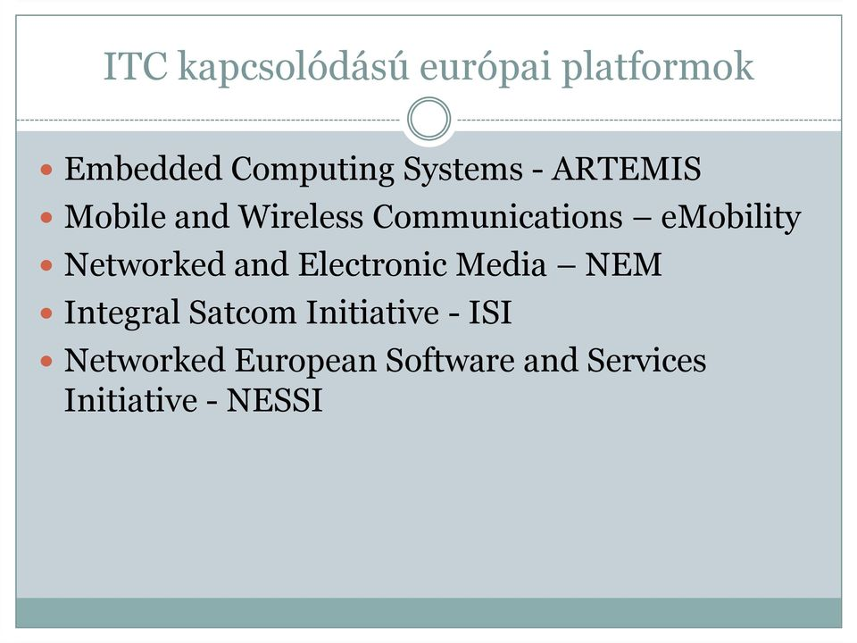 emobility Networked and Electronic Media NEM Integral Satcom