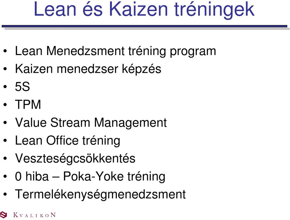 Stream Management Lean Office tréning