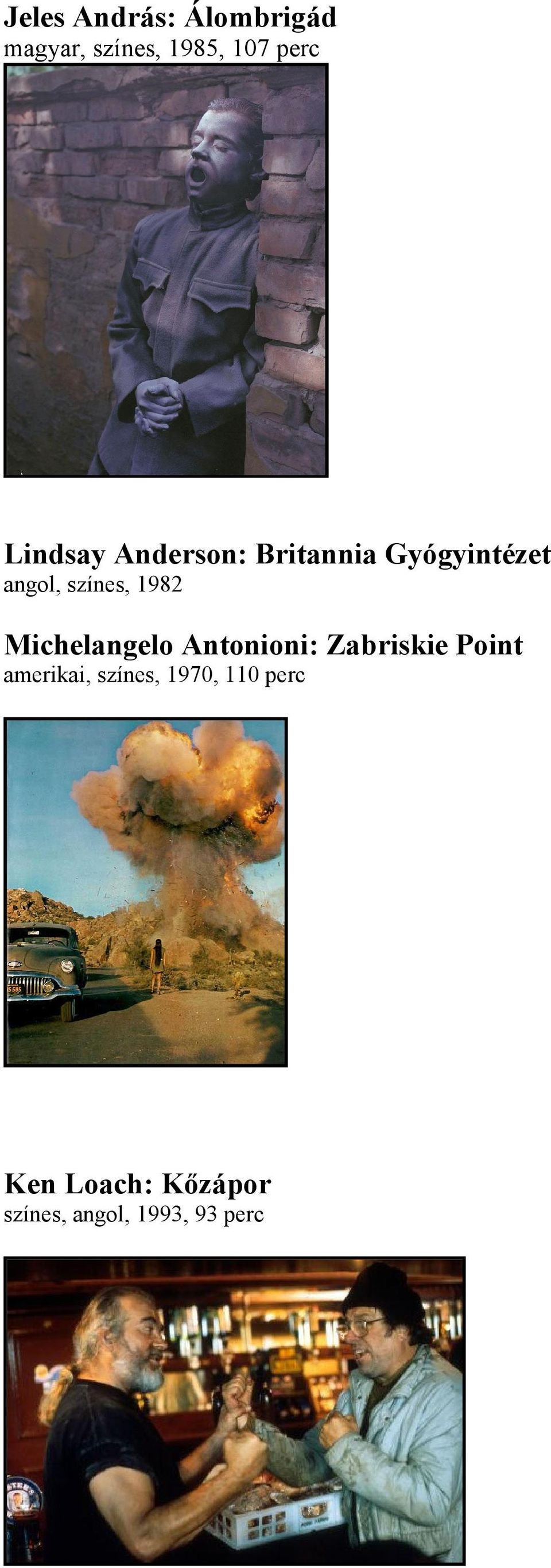 1982 Michelangelo Antonioni: Zabriskie Point amerikai,