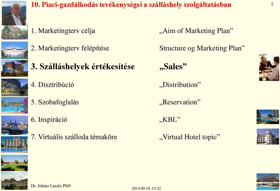 Marketingterv felépítése Structure og Marketing Plan 3.