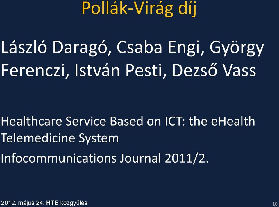 Healthcare Service Based on ICT: the ehealth